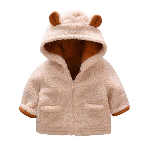 Faux Fur Newborn boy Girls Jackets beige Baby Coats Clothes Kids Coat Warm Jacket Outerwear