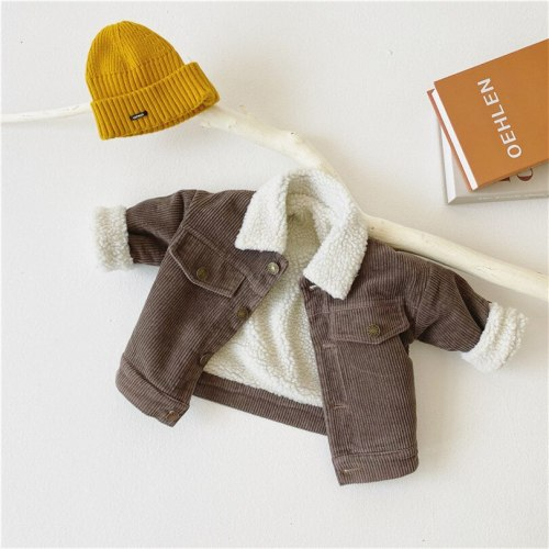 Kids Winter Lamb Wool  Jacket And Coat Kids Outerwear  Baby Girls Jacket Coat