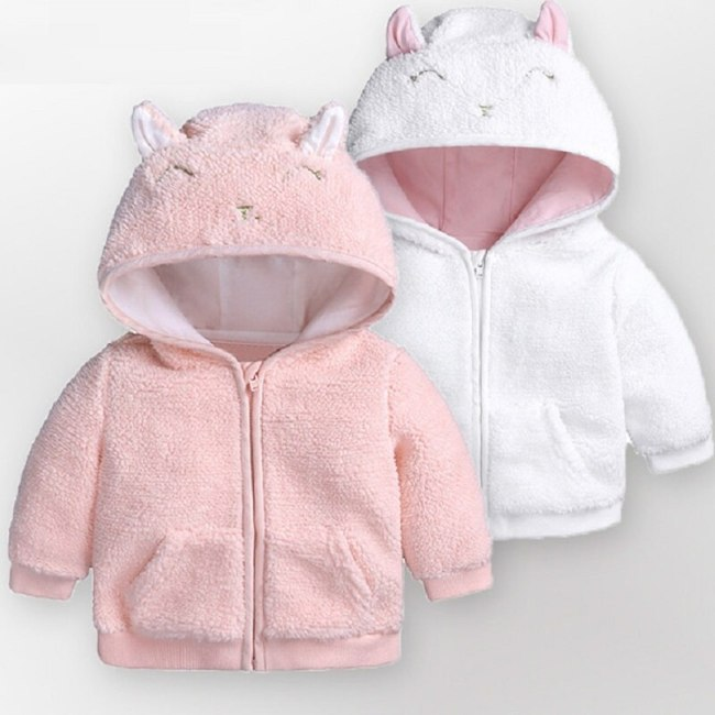 Baby Girls boys Jackets Winter autumn Outwear Lamb velvet Garment Lovely 3D Hooded Coat for Baby Kids Clothes Clothing