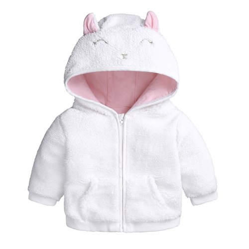 Baby Girls boys Jackets Winter autumn Outwear Lamb velvet Garment Lovely 3D Hooded Coat