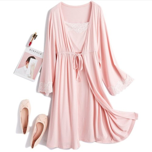 New Cotton Maternity Pajamas Sleepwear Nursing Pregnant Pajamas Breastfeeding Nightgown Maternity Nursing Dress 2 piece Set