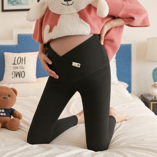 Vertical Adjust Waistline Autumn Maternity Pants All-match Leggings Pregnant Wear Plus Size Clothes For Pregnant Women