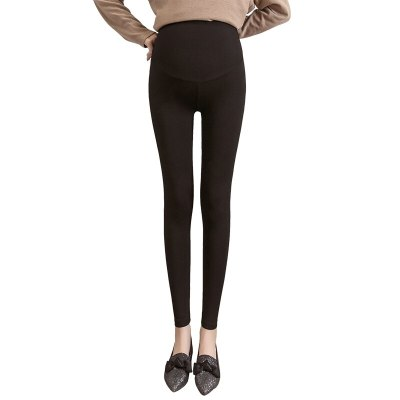 Solid Color Maternity Pants Knitted Cotton Adjustable Ankle-Length Leggings Plus Size Clothes Maternity Clothes PregnancyPant