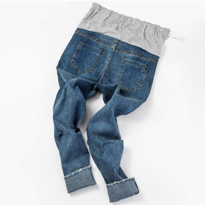 Pregnancy Fashion Burrs Jeans Skinny High Waist For Pregnant Women Large Clothes