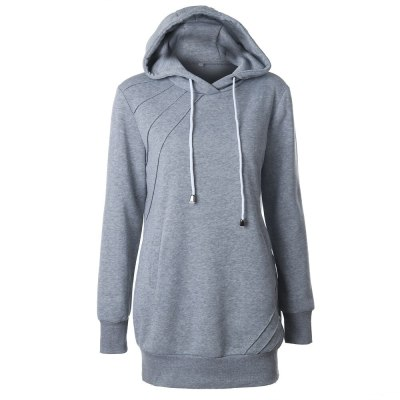 Fashion Autumn Lady Hoodies Women Female Long Sleeve Pink Gray Hooded Sweatshirt Tops Tracksuit Jackets Coat Lady Pullover