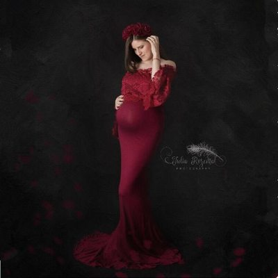 Maternity Photography Props  Dresses Fancy Party Gown Dress