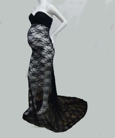 Off-the-shoulder Sexy Lace Maternity Dresses Photography Props Fancy Pregnancy Dress