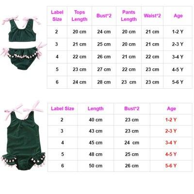 Summer Toddler Baby Girl Swimwear Bandage Bow Sleeveless Green Beach Wear Swimsuit Beachwear Bathing Suit Bikini Set Tassel