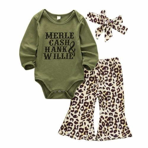 Toddler Girl Clothes Newborn Infant Baby Autumn Long Sleeve Bodysuit+Pants+Headband Outfits 3Pcs Set Costume Clothing 0-24M