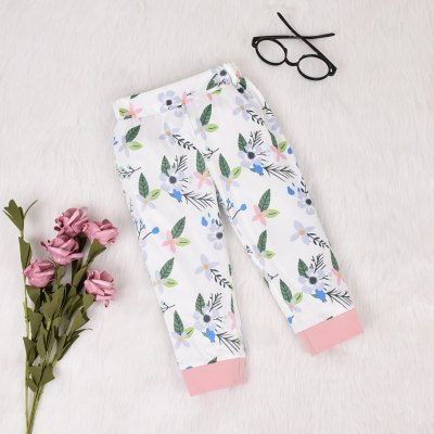 2020 Autumn Spring Toddler Infant Baby Girl Clothes  2PCs Set Long Sleeve Hooded Top Floral Pants Clothing Costume Outfits