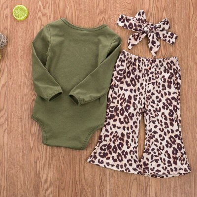 Toddler Girl Clothes Newborn Infant Baby Autumn Long Sleeve Bodysuit+Pants+Headband Outfits 3Pcs Set Costume Clothing 0-24M