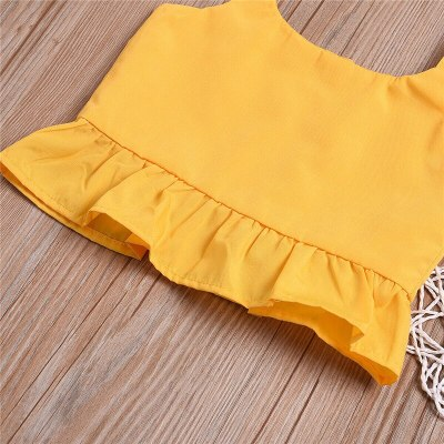 Toddler Baby Kid Child Girl Summer Clothes Cotton Sleeveless Button Crop Tops Floral Shorts Set 2Pcs Outfit Costume Clothing