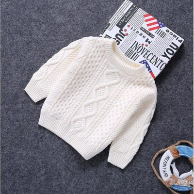 Children Clothes baby boys cotton Warm Pullovers plush inside sweaters girls Winter Autumn Knitted Loose jacket 1-12Y child tops