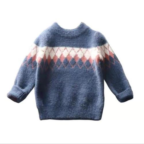 Baby sweaters 2-8T kids Mink hair pullovers girls boys winter thick warm coat
