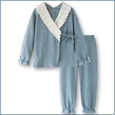 Lace Women's Sweet  Cotton Pajamas Top Women Set Pajama