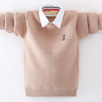 Boys pure cotton sweaters boys pullovers long sleeve knitted sweaters