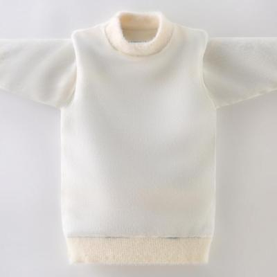 Winter Baby warm sweaters kids full sleeve pullovers fleece inside Mink down knitted  tops