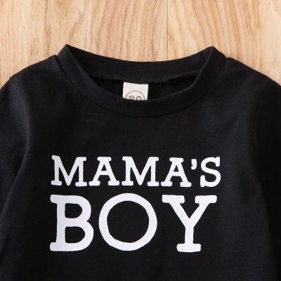 Newborn Baby Boy Clothes Letter Long Sleeve Tops Camouflage Print Long Pants 2Pcs Outfits Cotton Clothes Sweatshirts Set