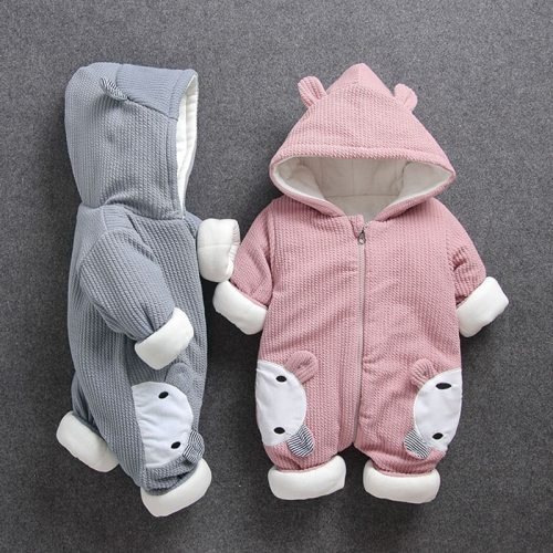 New Baby rompers Clothes Winter Boy Girl Garment Thicken Warm Comfortable  Cotton coat