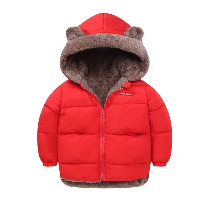 Baby Winter Coat Reversible Cartoon Hooded Plus Velvet Baby Boys Fleece Jacket Newborn Outerwear Toddler Girl Parkas