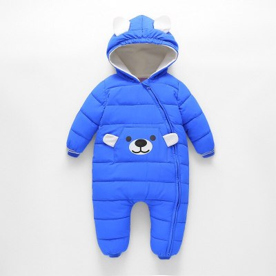 Cute bear Baby Winter Hooded Romper Thick Cotton Warm Outfit Newborn Jumpsuit Overalls Snowsuit Children Boy Clothing girl coat