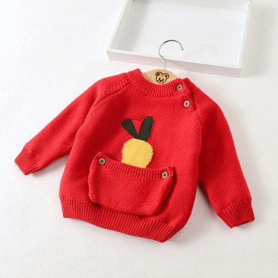 Baby Boys Girls Warm Sweaters Clothes Toddler Infant Sweater Coats Children Cartoon Thicken Tops