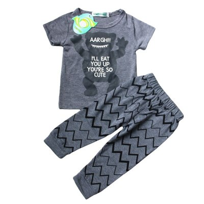 Kids Clothes Set Baby Boy Summer Clothes T-shirt+Overalls Outfits Fashion Short Sleeve Suit Toddler Girls Clothes Boys Clothing