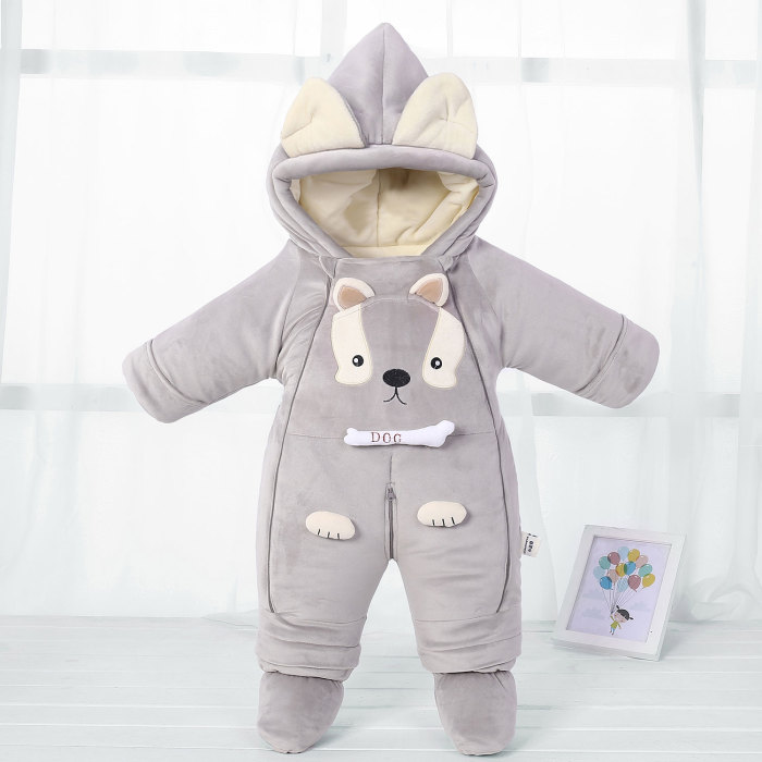 Romper Winter Hooded Warm New born Baby Jumpsuit Snowsuit