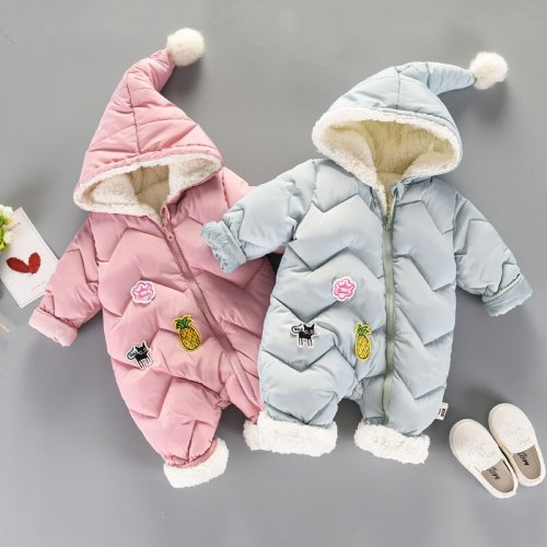 Winter warm Rompers Baby costume newborn Clothes Children Boys Girl Jumpsuit Kids Down Cotton Overalls snowsuit Hoodies Clothing