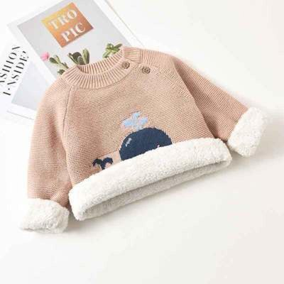 Winter Sweaters Clothes Kids Boys Warm Sweater Coats Child Cartoon Whale Tops Wool Pullovers