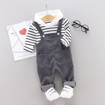 Fashion Baby Girls Boys Clothes Outfits Spring Autumn Kids Clothes T-shirt+Overalls Suit Girls Clothes Set Toddler Boy Clothing