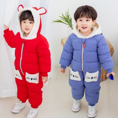 Autumn Winter Baby Clothes Romper For Girl coat Boy Jumpsuit  Cotton Overalls