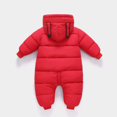 Newborn Baby costume Girl clothes Wear Snowsuit Boy Warm Plus velvet Romper