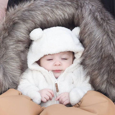 Cute Hot Style Newborn Baby Girl Boy Fuzzy Clothes Hooded Jumpsuit