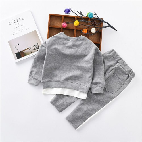 2020 Children Clothing Autumn Baby Toddler Boys Clothing Kids Clothes Tshirt+Pants Outfits 2PC Sports Suit For Girls