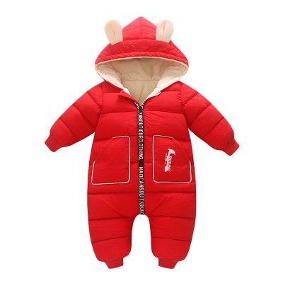 Newborn Baby Girl Clothes costume Winter toddler Romper Cotton Velvet Thick Boy Warm Jumpsuit