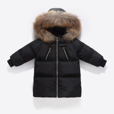 Kids Clothes Warm Outwear Red Coats  Thick Winter Down Jackets
