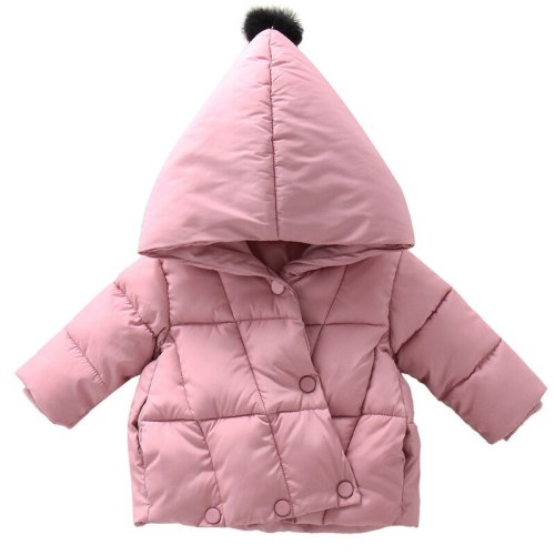 Children's baby plush cotton padded jacket winter girl's warm cotton Coat