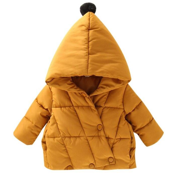 Children's baby plush cotton padded jacket winter girl's warm cotton Coat