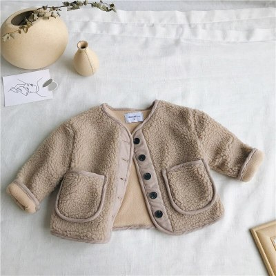 Autumn WAutumn Winter New Arrival Korean Version pure color woolen warm fashion thickened coat for cute sweet babies