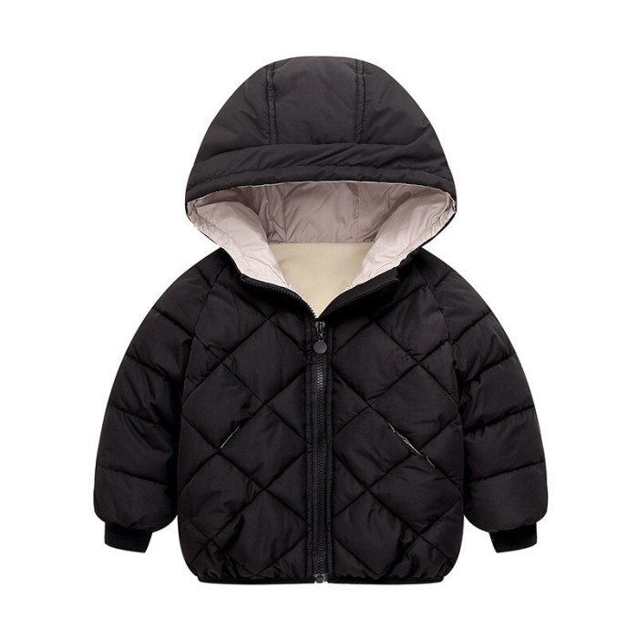 2020 New 2-8 Years Kids Girl Boy Jacket Baby Zipper Winter Thick Coat Warm Boys Jacket Fashion Solid Children Outerwear Clothing