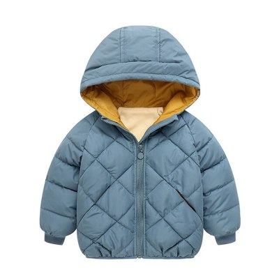 Kids Girl Boy Jacket Baby Zipper Winter Thick Coat Warm Boys Jacket Fashion Solid Children Outerwear Clothing