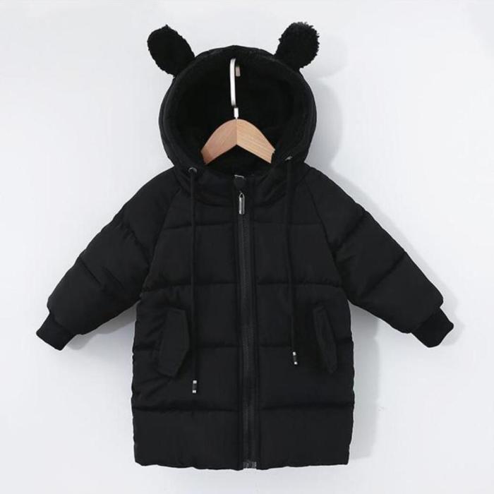 Baby Boys Coat winter Children outerwear fashion kids jackets for Boy girls cotton jacket Warm hooded toddler's parkas
