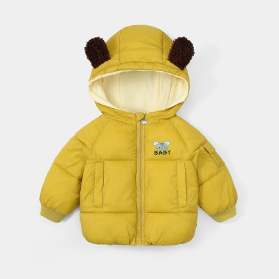 Kids Coat For Girls Winter Baby Boys Long Sleeve Cartoon Wind Proof Kids Outwear Candy Colors Cute With Hooded Warm Jackets