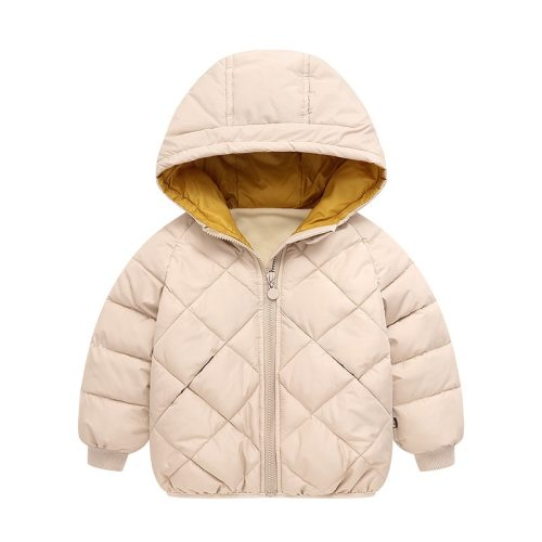 Baby Zipper Winter Thick Coat Warm Boys Jacket Fashion Solid Children Outerwear