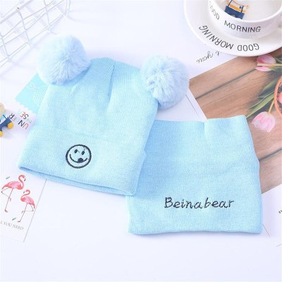 Newborn Toddlers Pompom Beanie Snood Kit Baby Kids Winter Hat and Scarf Set