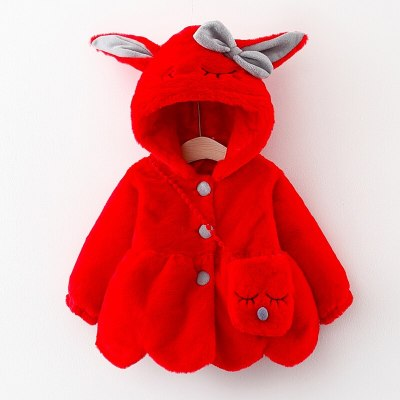 Winter newborn baby girls clothes warm velvet Faux Fur jacket outerwear for infant baby girl clothing birthday outfit coats +bag