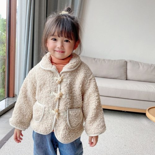 2020 New Style kids coat for Autumn and Winter Coat plus Velvet Turn-down Collar Coat  baby winter jacket