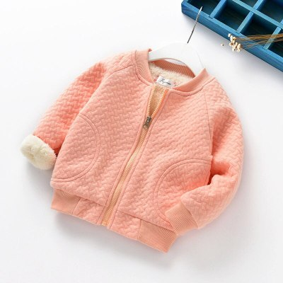 Baby Girls Thick Jackets For Baby Clothes Kids Velvet Zipper Coats Winter Toddler Boys Warm Jacket Casual Baby Outerwear