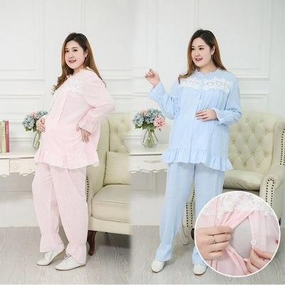 Pregnant mother breastfeeding pajamas Large size comfortable maternity Pajamas